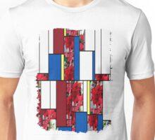 Mixed color Poinsettias 1 Art Rectangles 4 Unisex T-Shirt