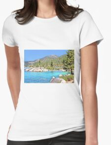 Secluded Cove on Lake Tahoe Womens Fitted T-Shirt
