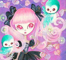 Magical Owls by TenshiNoYume