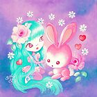 Pink Bunny Love by TenshiNoYume