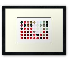 Mixed color Poinsettias 1 Dots Framed Print