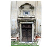 Old church door. Poster