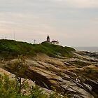 Beavertail Lighthouse and Bluffs, Jamestown Rhode Island by Jack McCabe