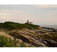 Beavertail Lighthouse and Bluffs, Jamestown Rhode Island Photographic Print