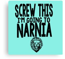 Narnia Quotes Canvas Print