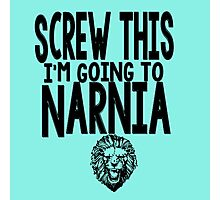 Narnia Quotes Photographic Print
