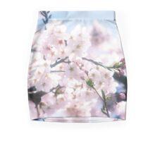 Lovely White Sakura Cherry Blossoms Spring Flowers Mini Skirt