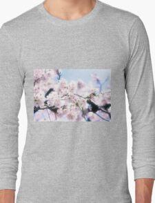 Lovely White Sakura Cherry Blossoms Spring Flowers Long Sleeve T-Shirt