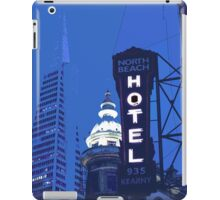 North Beach Buildings at Night iPad Case/Skin