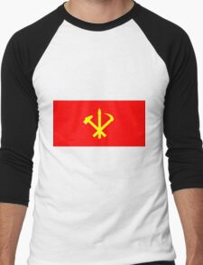 Flag of the Workers' Party of Korea Men's Baseball ¾ T-Shirt