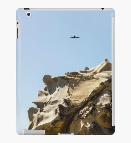 Raven Flying over Tafoni iPad Case/Skin