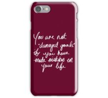 clean speech iPhone Case/Skin