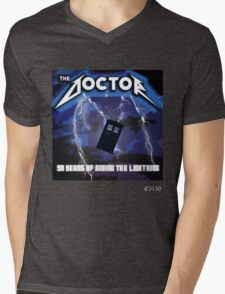 The Doctor is Metal Mens V-Neck T-Shirt