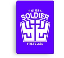 Final Fantasy VII - SOLDIER First Class Logo Canvas Print