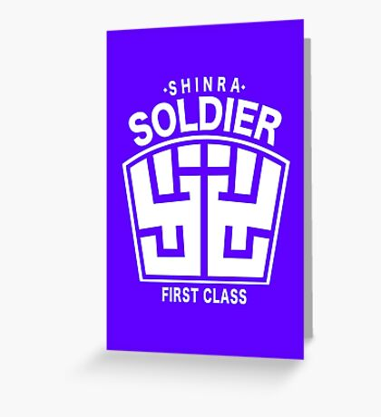 Final Fantasy VII - SOLDIER First Class Logo Greeting Card