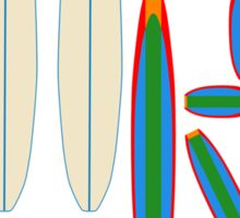 SURF LETTERS WITH SURF BOARDS Sticker