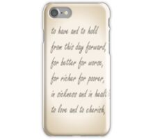 Wedding Vows iPhone Case/Skin