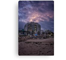 Cronulla twighlight before the storm Canvas Print