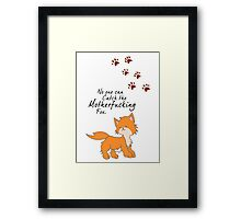 "Looking For Alaska - ""No One Can Catch the Motherfucking Fox"" John Green [Apparel & Sticker] Framed Print"