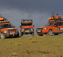 G4 Land Rovers, Mongolia, 2008 by L2SFBC