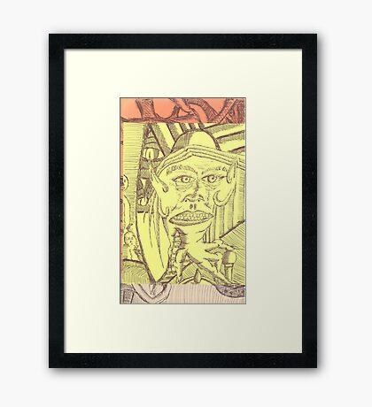 hand deamon Framed Print
