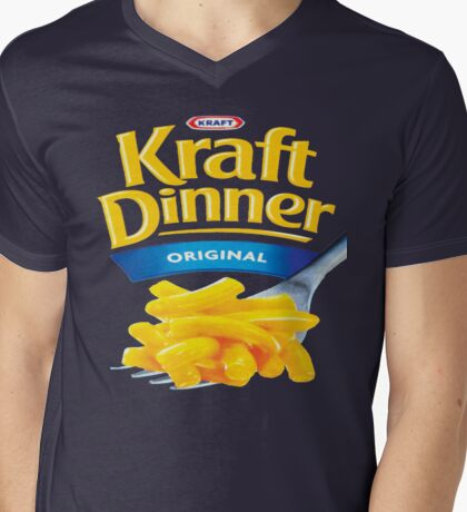 Kraft Dinner Mac 'n' Cheese T-Shirt Mens V-Neck T-Shirt