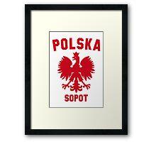 POLSKA SOPOT Framed Print