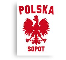 POLSKA SOPOT Canvas Print