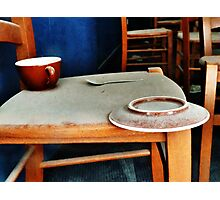 The Cup, Saucer and Spoon  Photographic Print