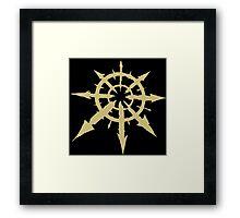 Chaos Symbol Framed Print