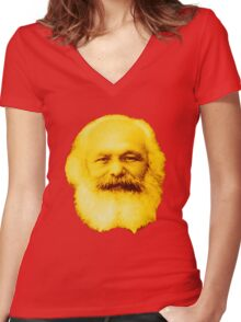 Karl Marx, Baby! T-Shirt Women's Fitted V-Neck T-Shirt