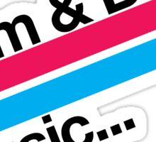 Drum & Bass F2 Sticker