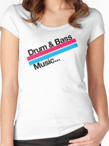 Drum & Bass F2 Women's Fitted Scoop T-Shirt