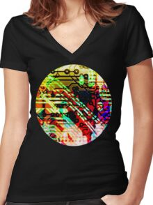 Color circuit Women's Fitted V-Neck T-Shirt
