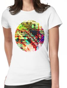 Color circuit Womens Fitted T-Shirt
