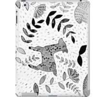 Black & White Forest iPad Case/Skin