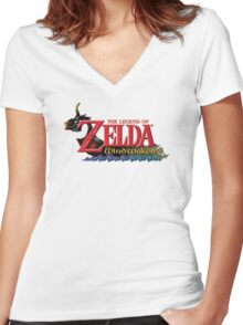 Zelda The Wind waker Women's Fitted V-Neck T-Shirt