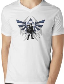 Zelda Link Mens V-Neck T-Shirt
