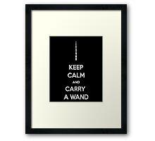 keep calm and carry a wand Framed Print