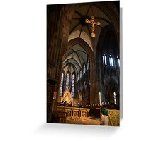 Inside St Mary's Cathedral, Edinburgh Greeting Card