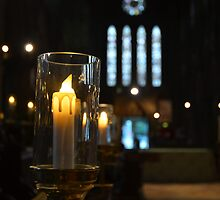 Candle in the wind/glass by Pete Johnston