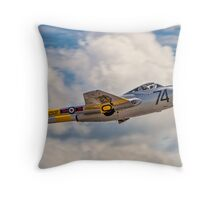 De Havilland Vampire T.11 WZ507 G-VTII Throw Pillow