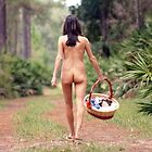 Pretty Nude Brunette in a Forest (2) by cspmedia