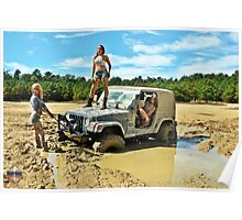 girls in mud Poster