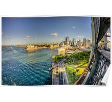 Sydney Harbour & Opera House Poster