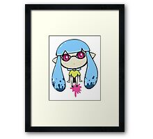 Chibi Inkling Girl (light blue) Framed Print