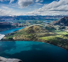 Queenstown Flyover by Russell Charters