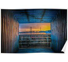 Bolte Bridge Sunset Poster