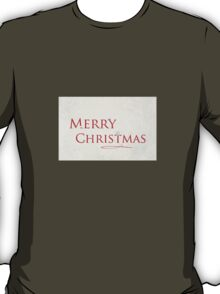 Merry Christmas (Roses) T-Shirt