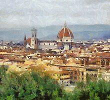 Florence from above, Italy by buttonpresser